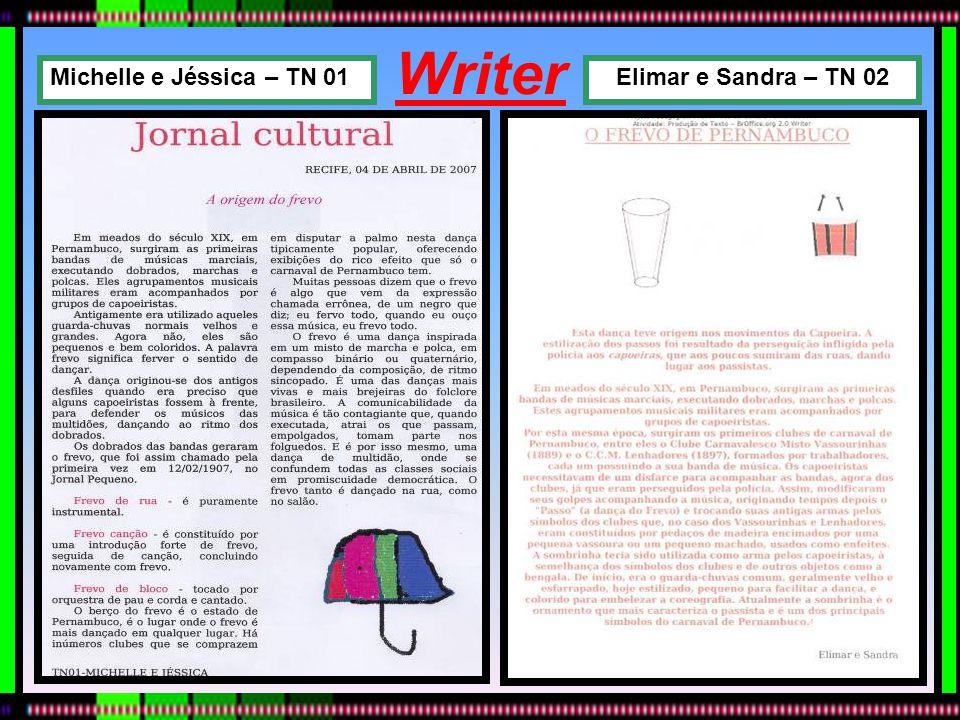 Writer Elimar e Sandra – TN 02Michelle e Jéssica – TN 01