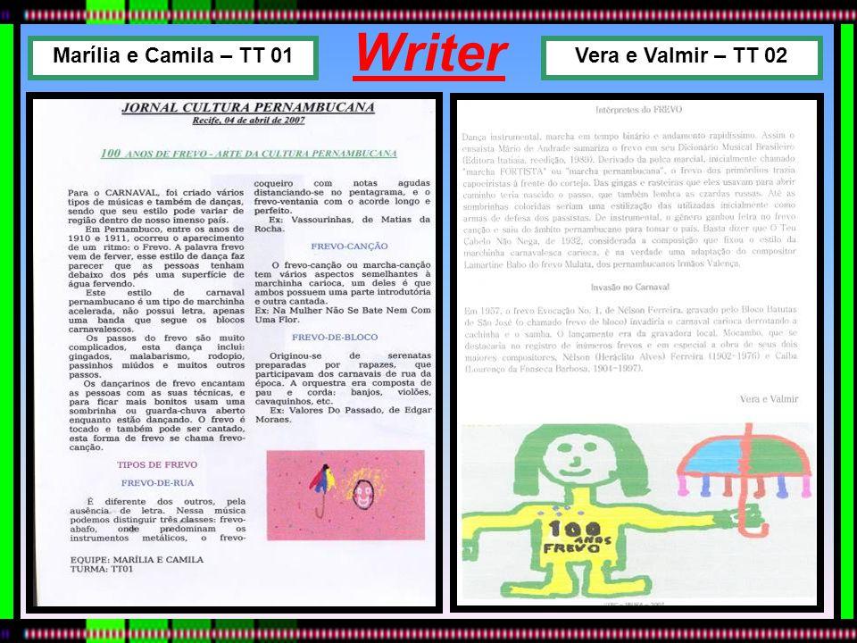 Writer Vera e Valmir – TT 02Marília e Camila – TT 01