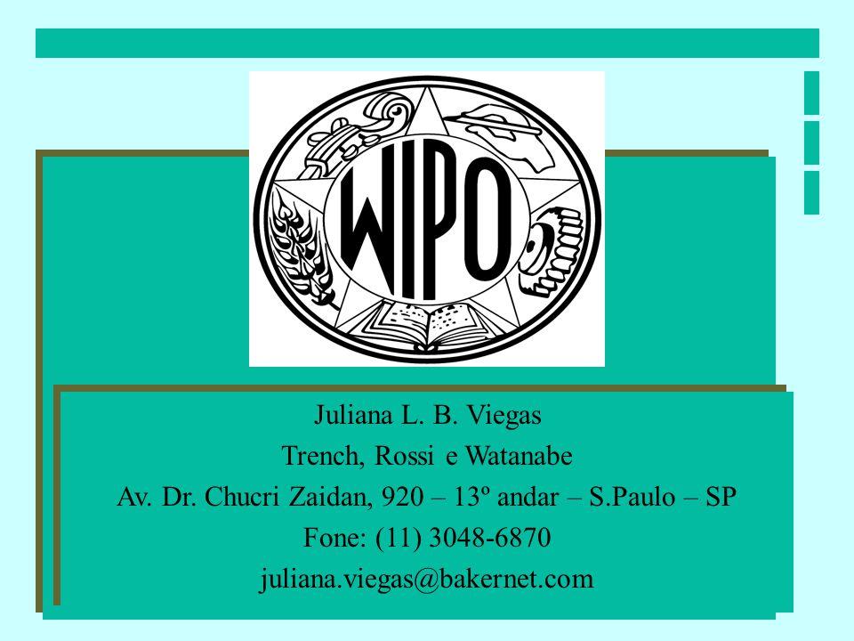 Juliana L. B. Viegas Trench, Rossi e Watanabe Av. Dr. Chucri Zaidan, 920 – 13º andar – S.Paulo – SP Fone: (11) 3048-6870 juliana.viegas@bakernet.com J