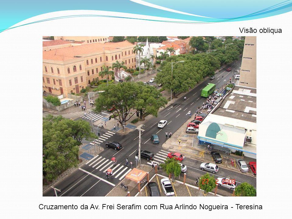 Visão obliqua Cruzamento da Av. Frei Serafim com Rua Arlindo Nogueira - Teresina