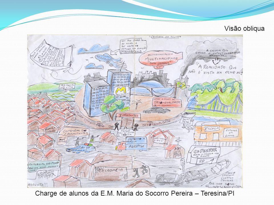 Visão obliqua Charge de alunos da E.M. Maria do Socorro Pereira – Teresina/PI