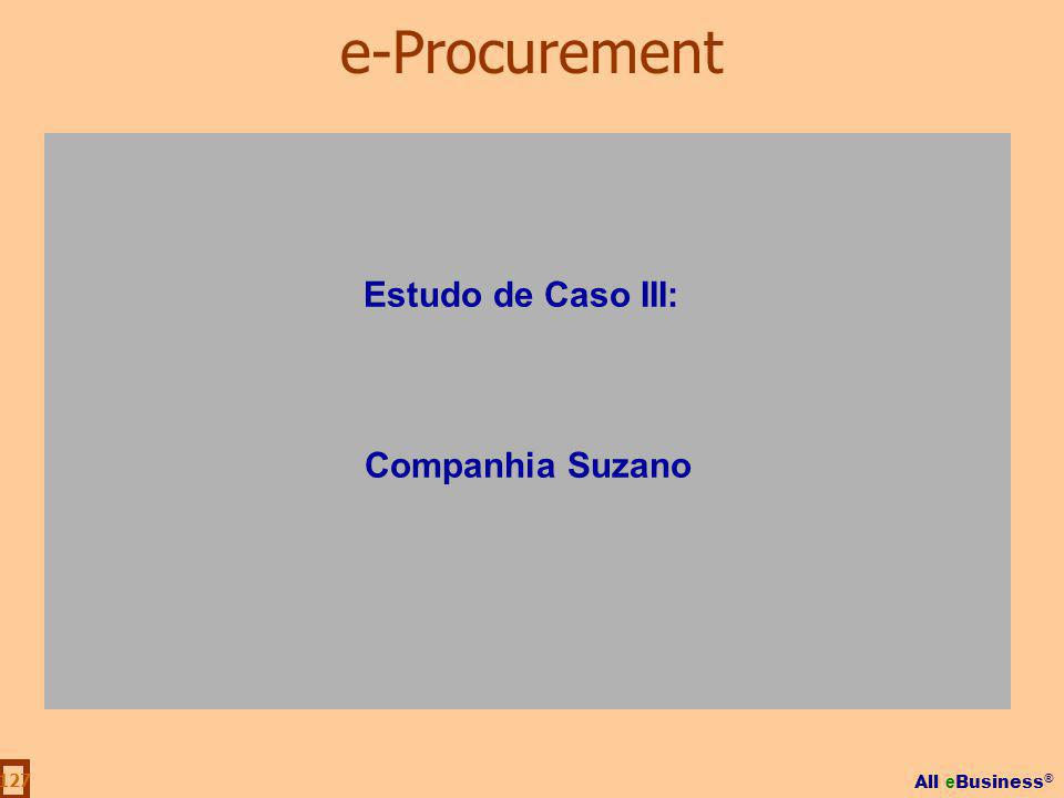 All e Business ® 127 Estudo de Caso III: Companhia Suzano e-Procurement