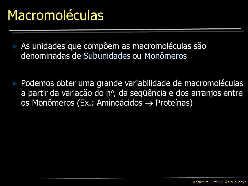 Macromoléculas A maioria das moléculas encontradas nos organismos são baseadas no elemento Carbono, associado a Nitrogênio, Oxigênio ou Hidrogênio As