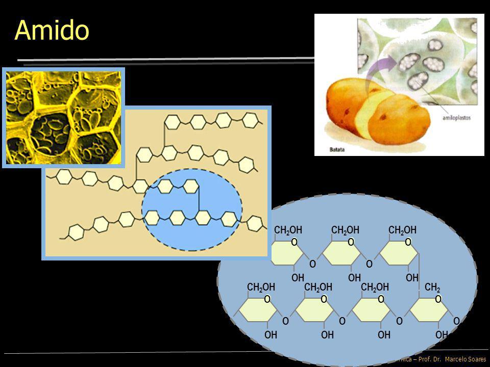 Bioquímica – Prof. Dr. Marcelo Soares Polimerização da glicose na formação de Amido OH O O CH 2 OH OH O O CH 2 OH OH O O CH 2 OH OH O O CH 2 OH OH O O