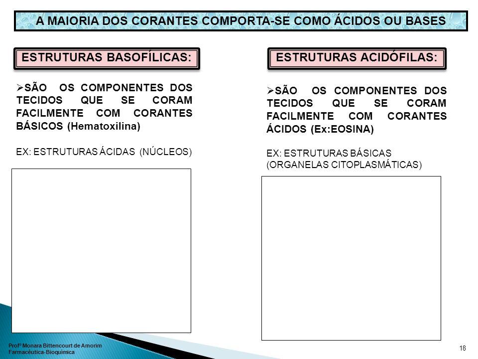 SÃO OS COMPONENTES DOS TECIDOS QUE SE CORAM FACILMENTE COM CORANTES ÁCIDOS (Ex:EOSINA) EX: ESTRUTURAS BÁSICAS (ORGANELAS CITOPLASMÁTICAS) A MAIORIA DO