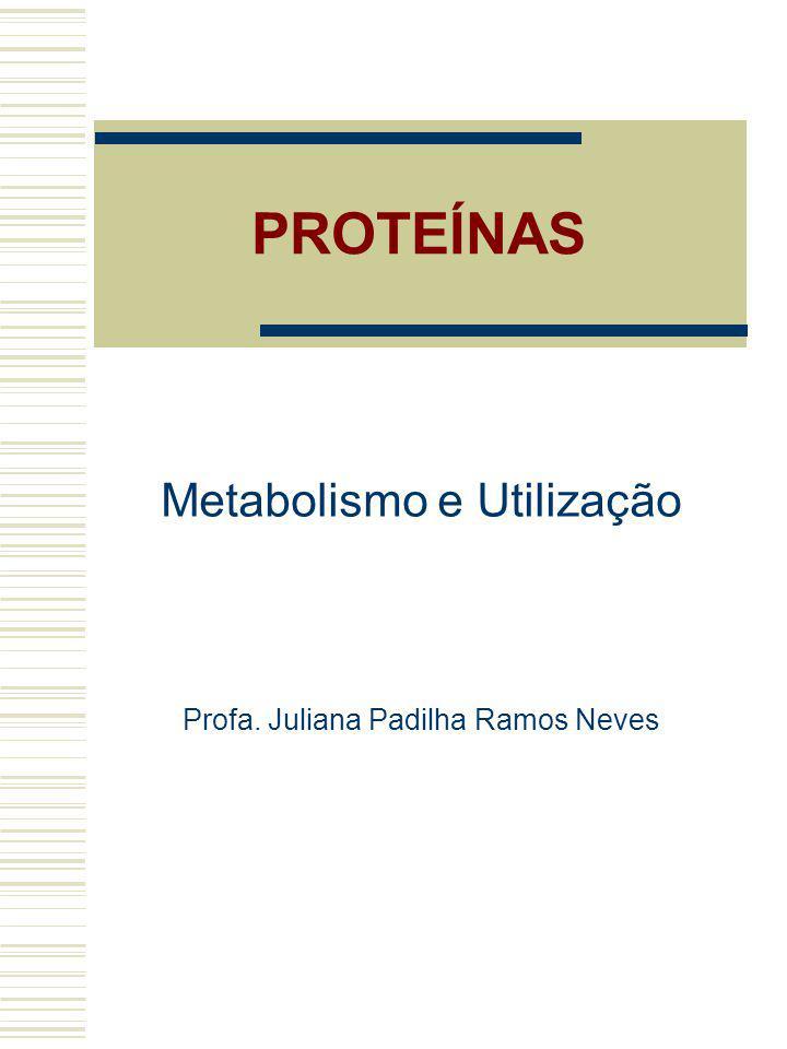 PROTEÍNAS Metabolismo e Utilização Profa. Juliana Padilha Ramos Neves