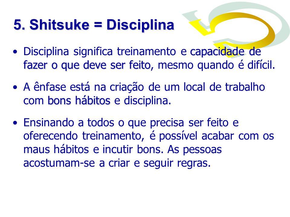 capacidade de fazer o que deve ser feitoDisciplina significa treinamento e capacidade de fazer o que deve ser feito, mesmo quando é difícil. bons hábi
