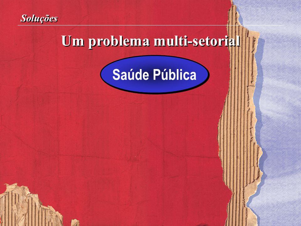 Um problema multi-setorial Soluções Saúde Pública