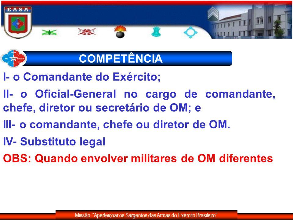 Missão: Aperfeiçoar os Sargentos das Armas do Exército Brasileiro DOS PROCEDIMENTOS Formalidades Iniciais Fase de Instrução Relatório