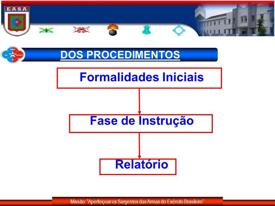 Missão: Aperfeiçoar os Sargentos das Armas do Exército Brasileiro DOS PRAZOS - Exclui-se o dia do início e inclui-se o do vencimento (prazo processual).