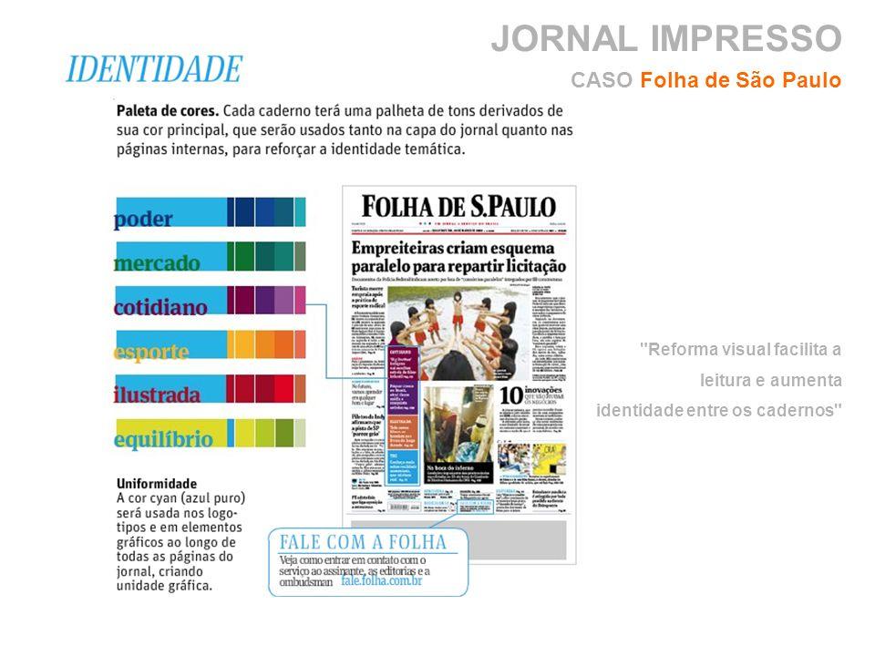 CASO Folha de São Paulo Reforma visual facilita a leitura e aumenta identidade entre os cadernos