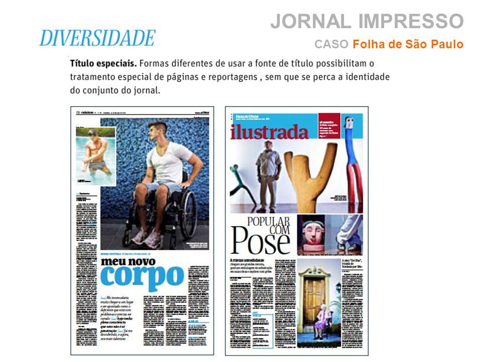 JORNAL IMPRESSO CASO Folha de São Paulo
