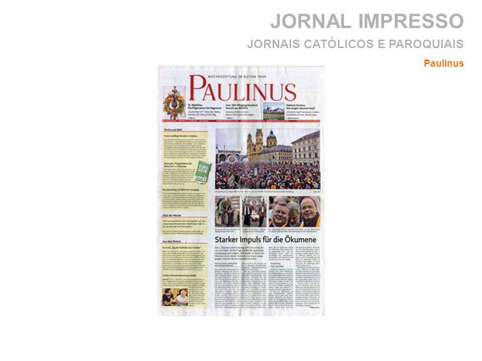 JORNAL IMPRESSO Paulinus JORNAIS CATÓLICOS E PAROQUIAIS