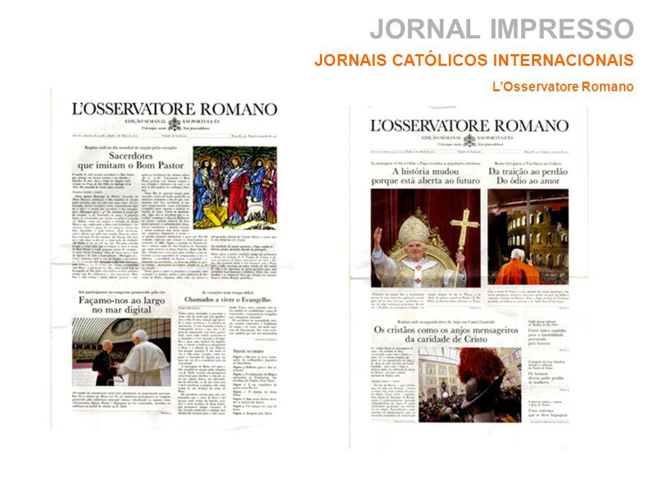 JORNAL IMPRESSO JORNAIS CATÓLICOS INTERNACIONAIS LOsservatore Romano