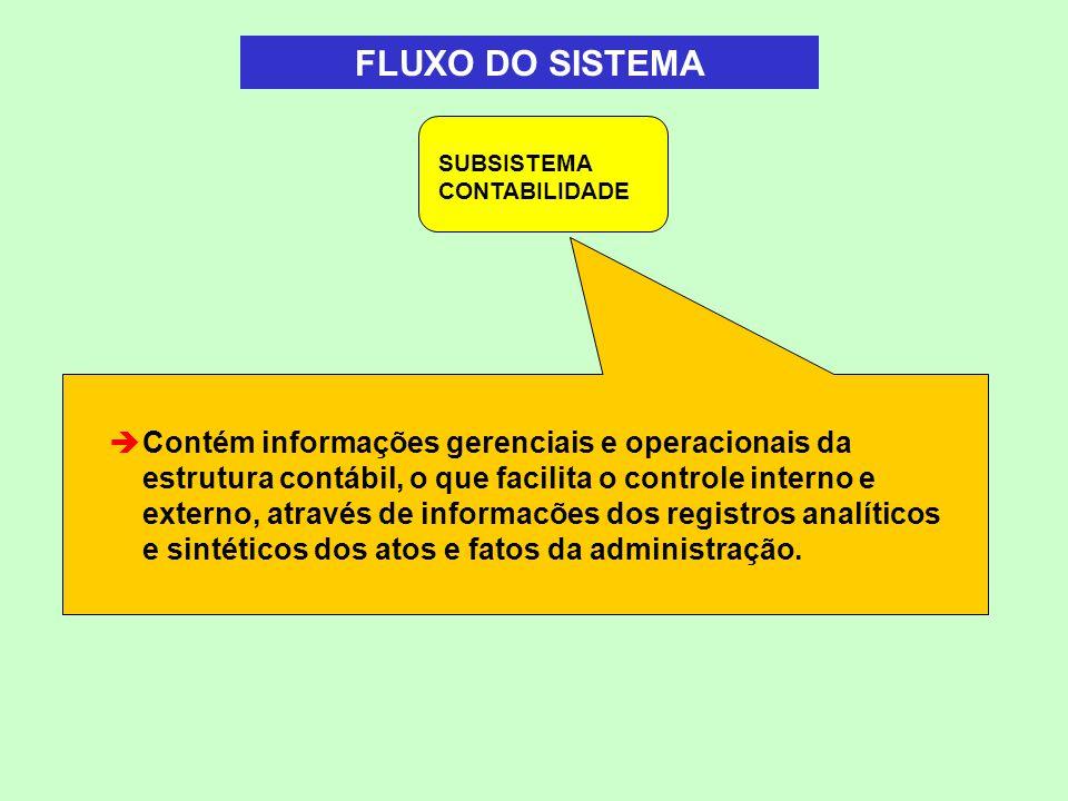 Contém informações gerenciais e operacionais da estrutura contábil, o que facilita o controle interno e externo, através de informacões dos registros