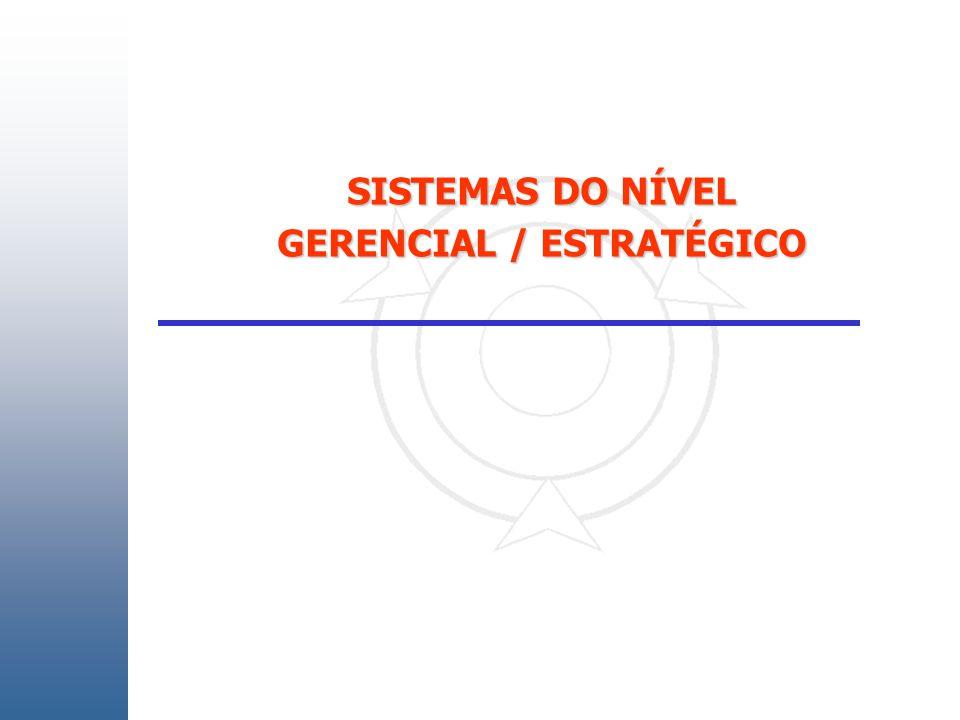 SISTEMAS DO NÍVEL GERENCIAL / ESTRATÉGICO