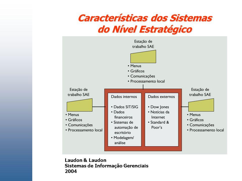 Características dos Sistemas do Nível Estratégico Laudon & Laudon Sistemas de Informação Gerenciais 2004