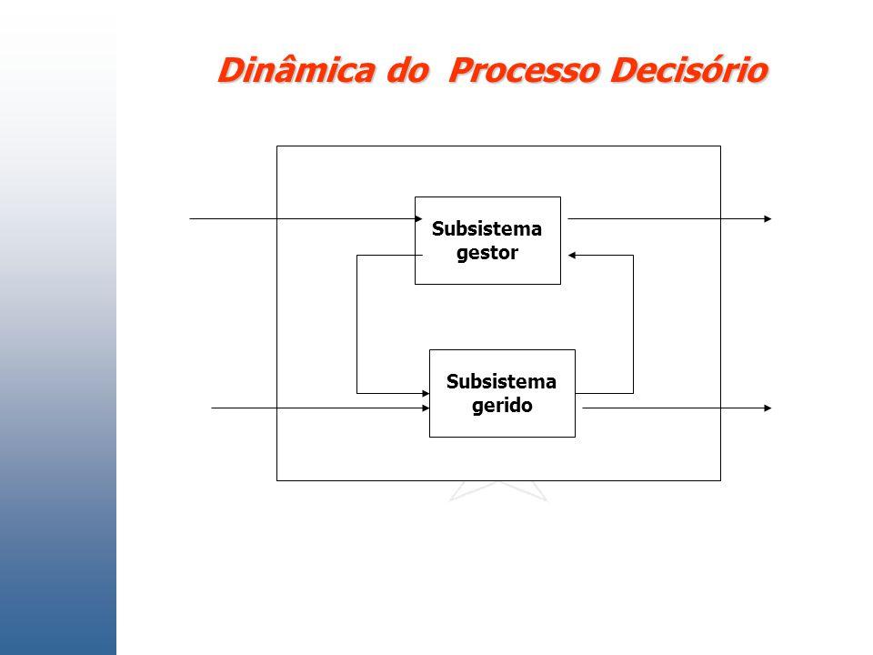 Dinâmica do Processo Decisório Subsistema gestor Subsistema gerido