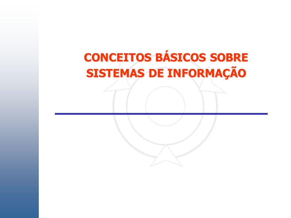 CONCEITOS BÁSICOS SOBRE SISTEMAS DE INFORMAÇÃO