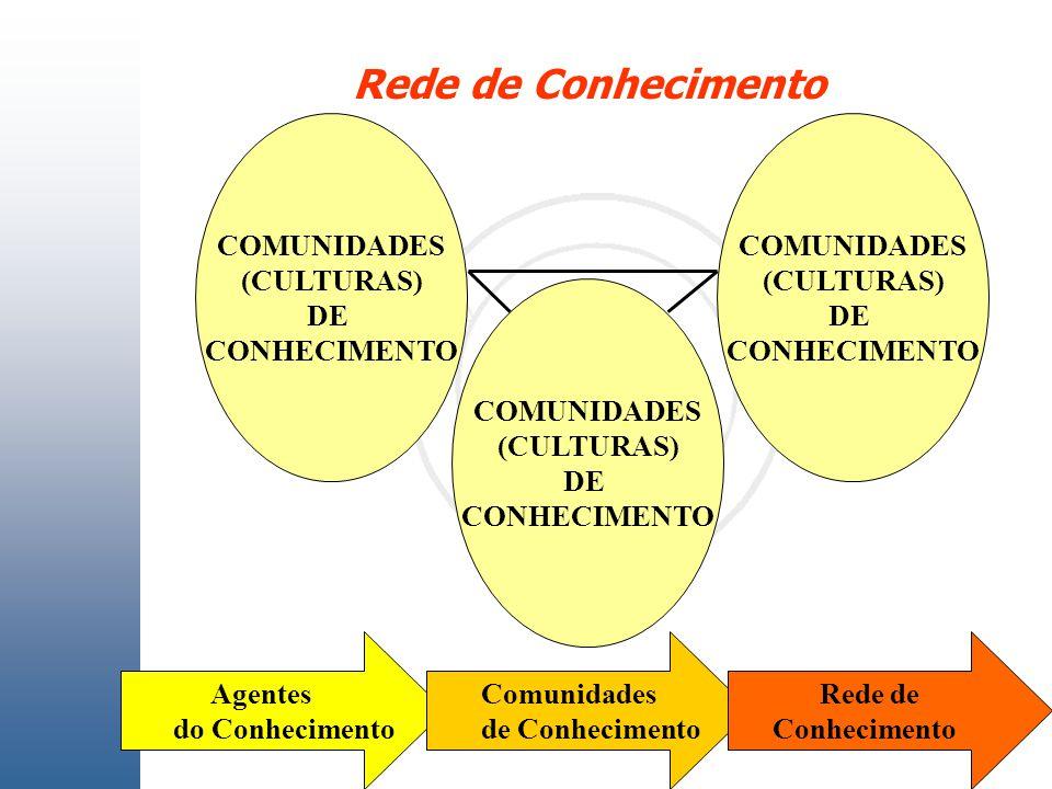 Rede de Conhecimento COMUNIDADES (CULTURAS) DE CONHECIMENTO COMUNIDADES (CULTURAS) DE CONHECIMENTO COMUNIDADES (CULTURAS) DE CONHECIMENTO Agentes do C