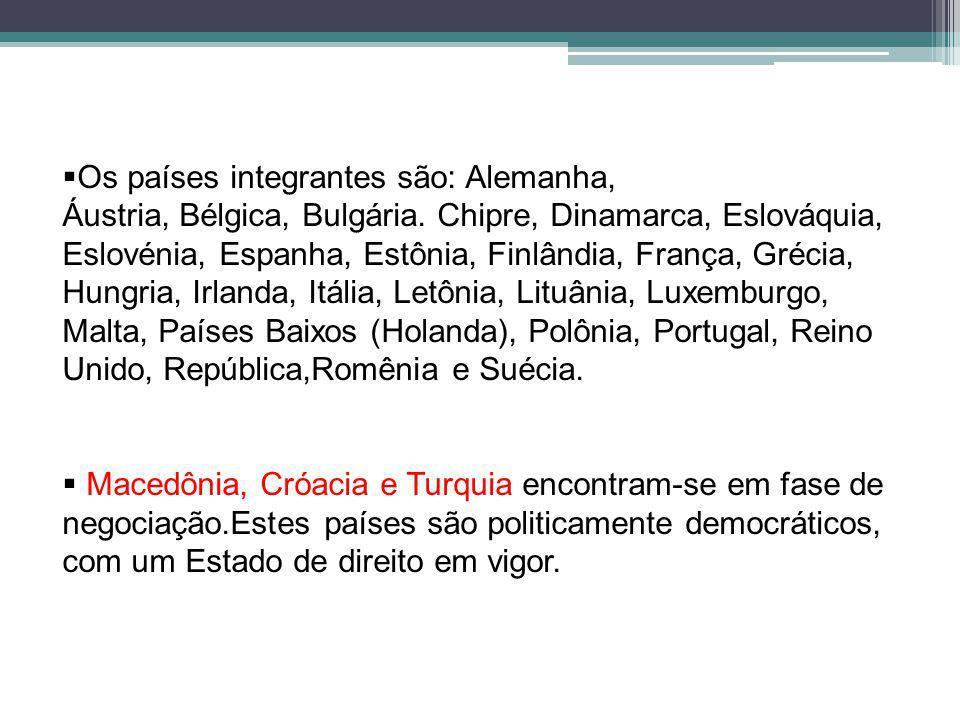 Os países integrantes são: Alemanha, Áustria, Bélgica, Bulgária.