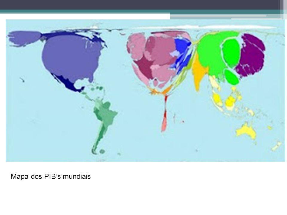 Mapa dos PIBs mundiais