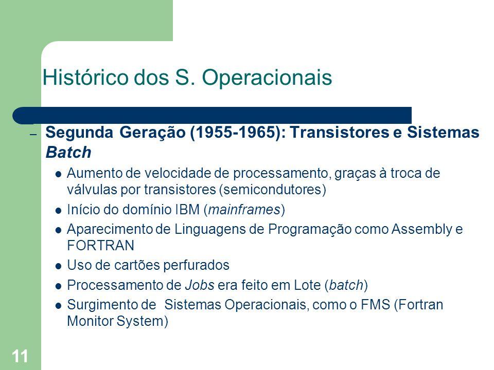 11 Histórico dos S.