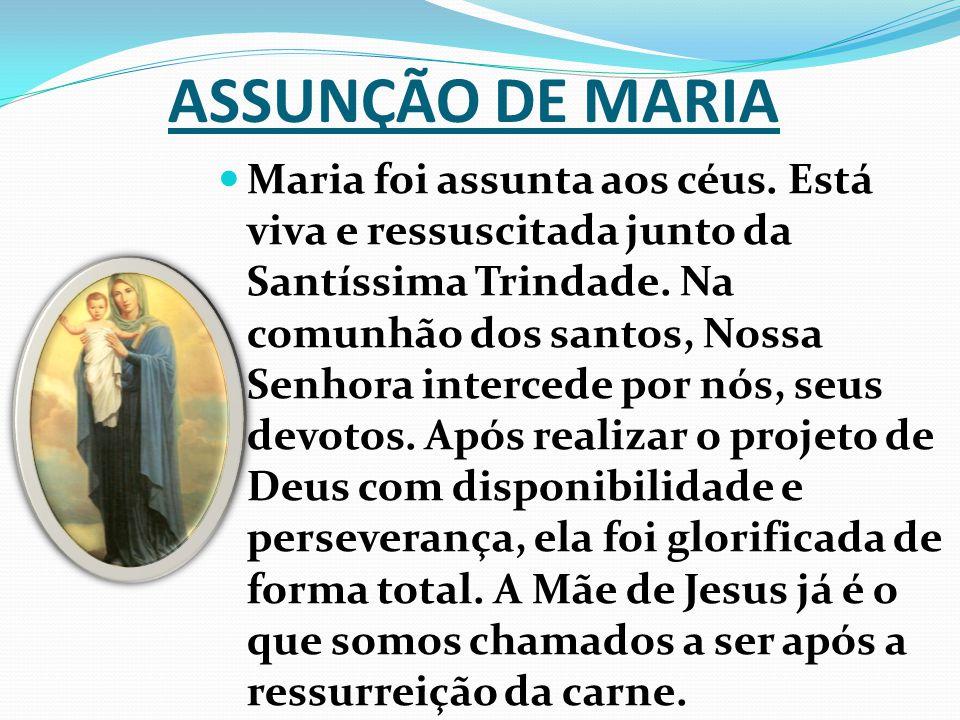ASSUNÇÃO DE MARIA Maria foi assunta aos céus.