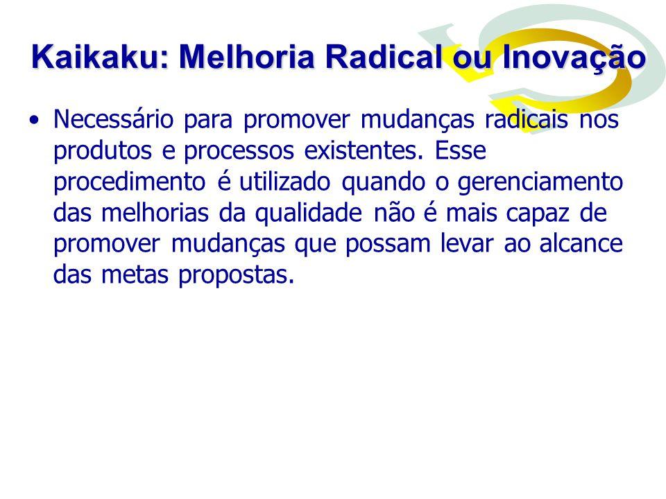 Melhoria Radical –melhoria baseada em inovações –mudança grande e dramática na forma como a operação trabalha.