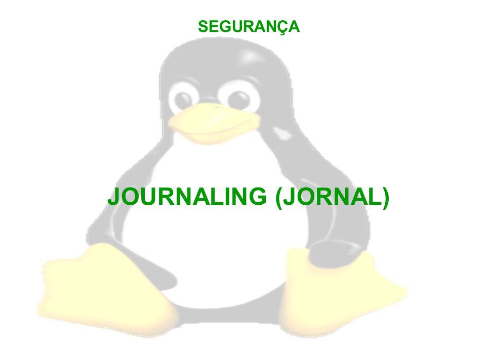 SEGURANÇA JOURNALING (JORNAL)
