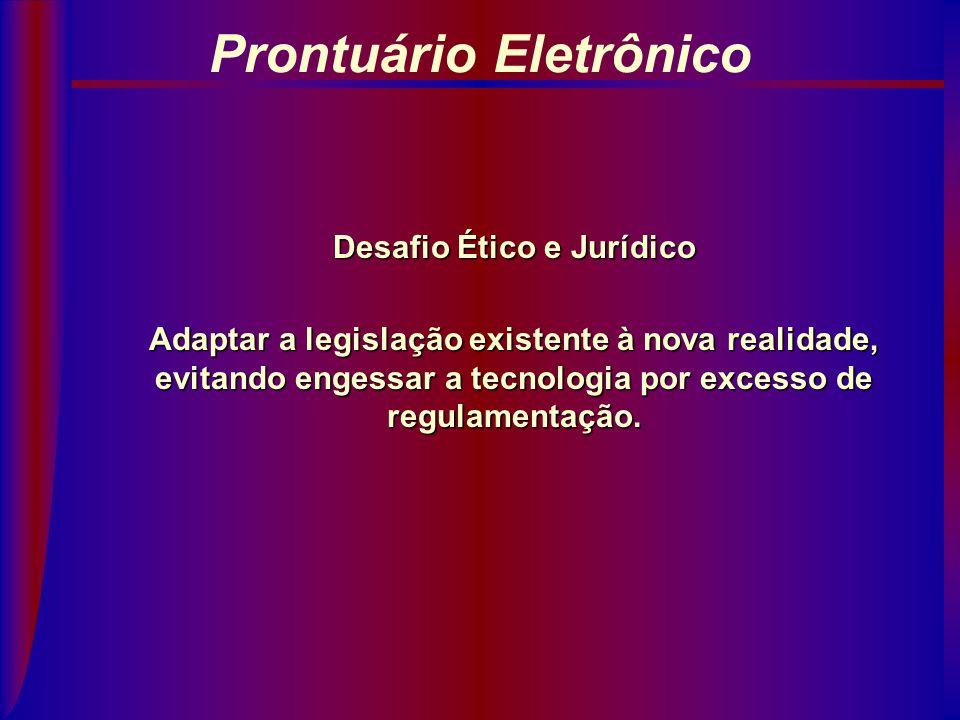 Prontuário Eletrônico Sistemas Jurídicos Norte-Americano: derivado do Direito Inglês (Common Law), tende a esperar os fatos e a eles se adaptar Brasil