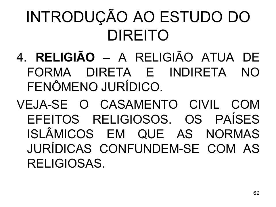 62 INTRODUÇÃO AO ESTUDO DO DIREITO 4.