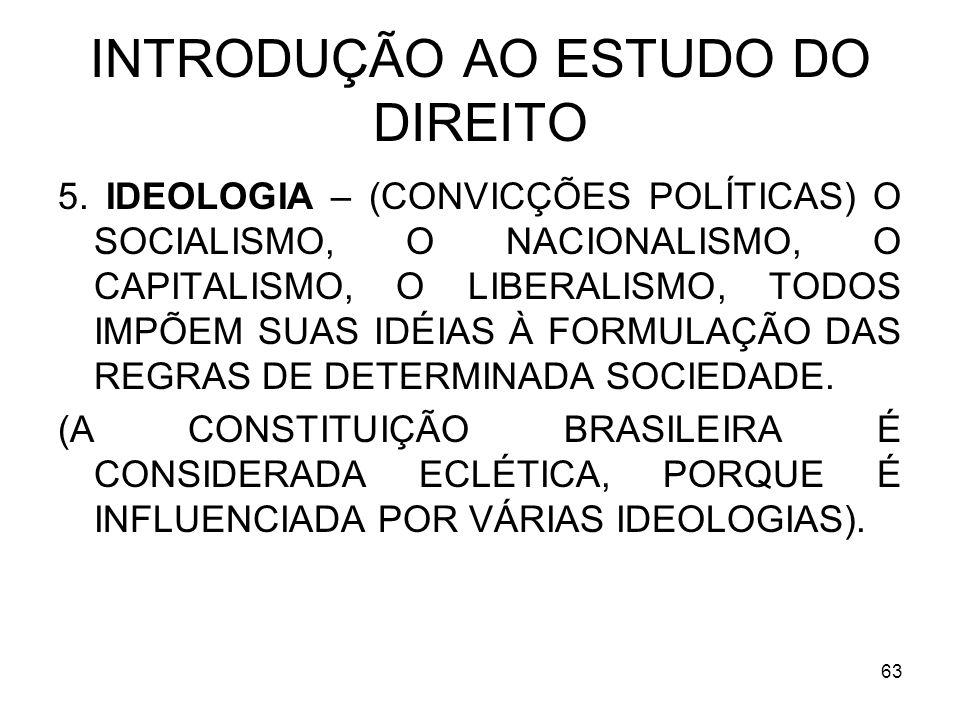 63 INTRODUÇÃO AO ESTUDO DO DIREITO 5.