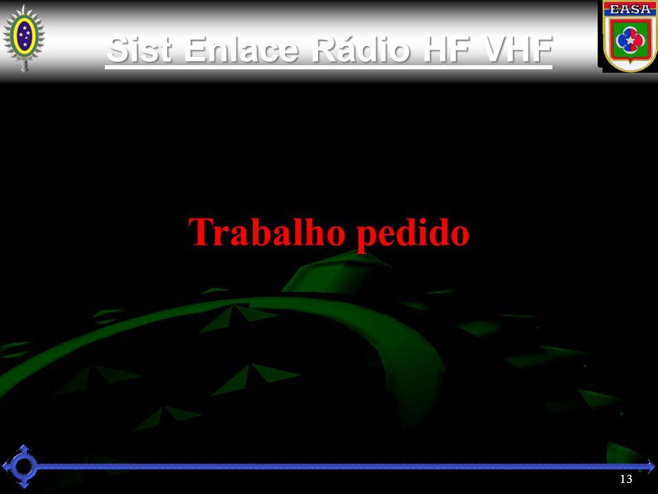 13 Sist Enlace Rádio HF VHF Sist Enlace Rádio HF VHF Trabalho pedido