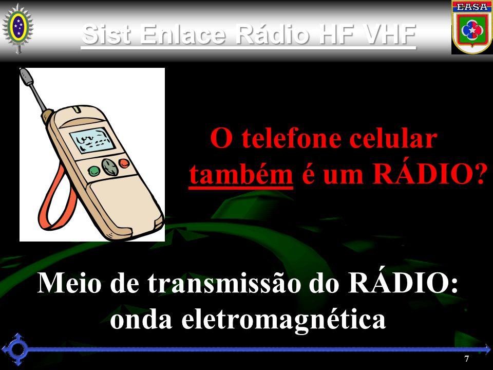 7 Sist Enlace Rádio HF VHF Sist Enlace Rádio HF VHF O telefone celular também é um RÁDIO.
