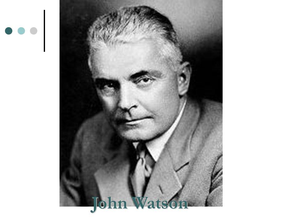 Watson afirmou que a psicologia devia restringir-se aos dados das ciências naturais, ao que podia ser observado – em outras palavras, ao comportamento externo.