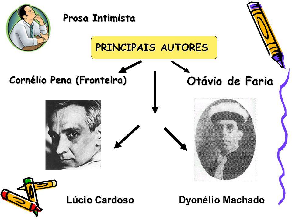 Prosa Intimista Lúcio Cardoso PRINCIPAIS AUTORES Dyonélio Machado Cornélio Pena (Fronteira)Otávio de Faria