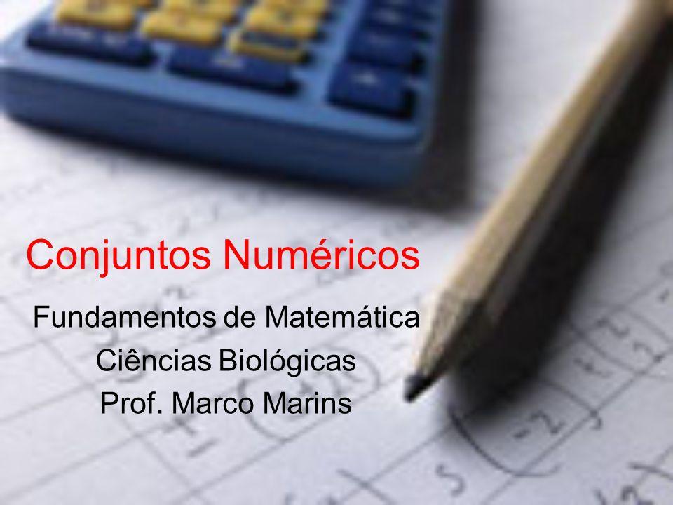Conjuntos Numéricos Fundamentos de Matemática Ciências Biológicas Prof. Marco Marins