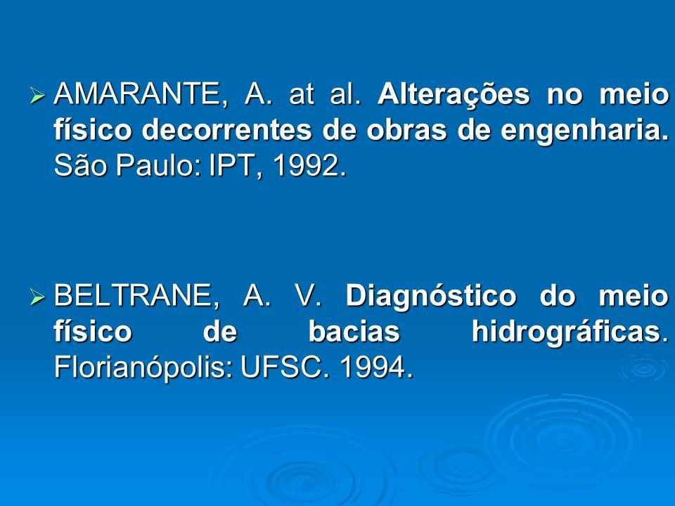 AMARANTE, A.at al. Alterações no meio físico decorrentes de obras de engenharia.