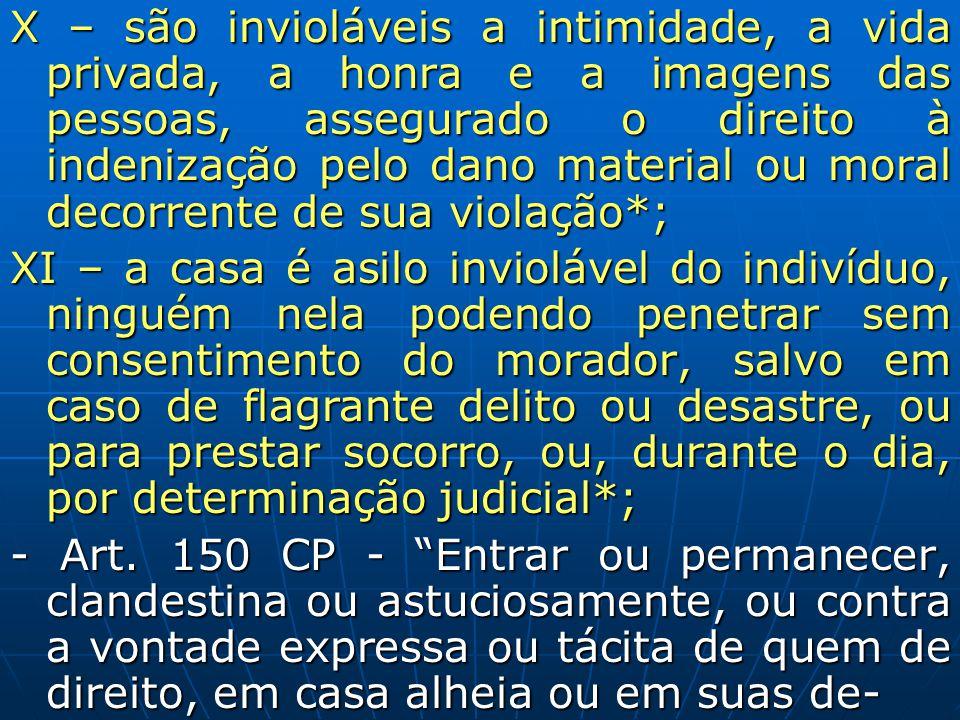 X – são invioláveis a intimidade, a vida privada, a honra e a imagens das pessoas, assegurado o direito à indenização pelo dano material ou moral deco