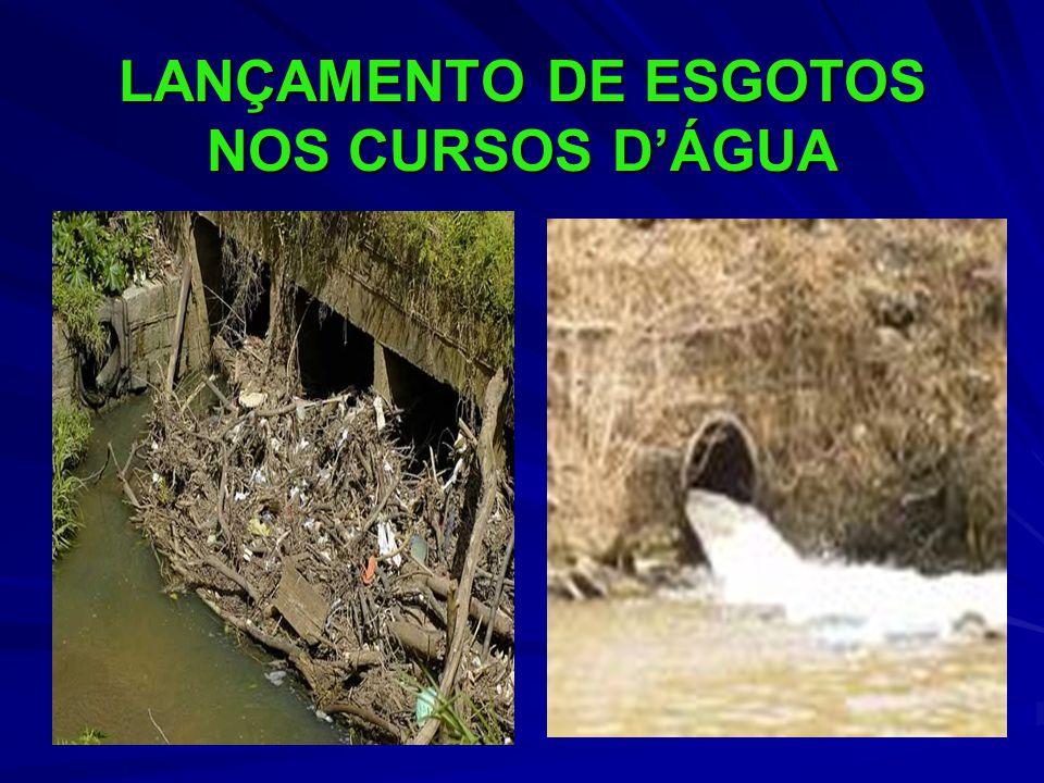 LANÇAMENTO DE ESGOTOS NOS CURSOS DÁGUA