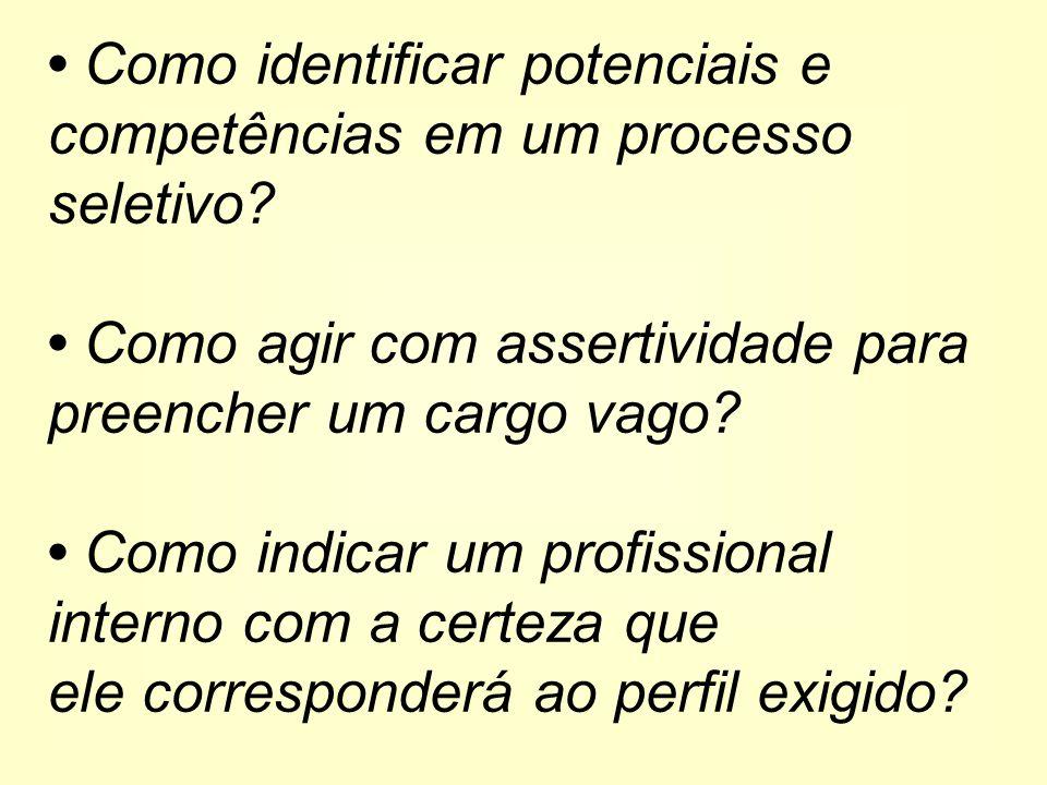 Como identificar potenciais e competências em um processo seletivo.
