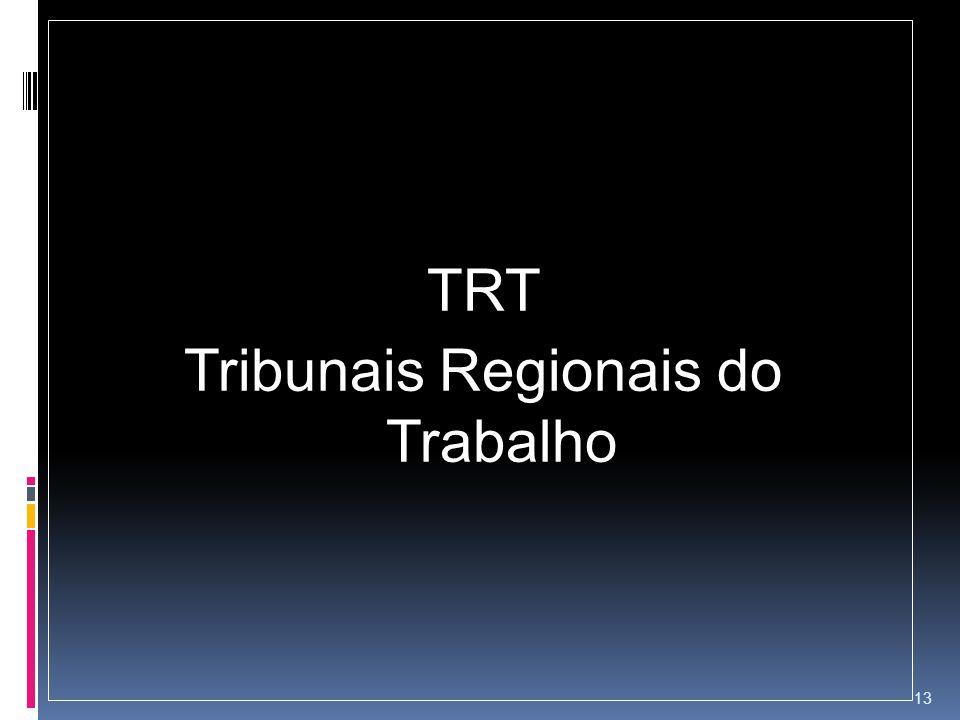 TRT Tribunais Regionais do Trabalho 13