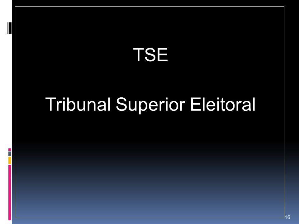 TSE Tribunal Superior Eleitoral 16