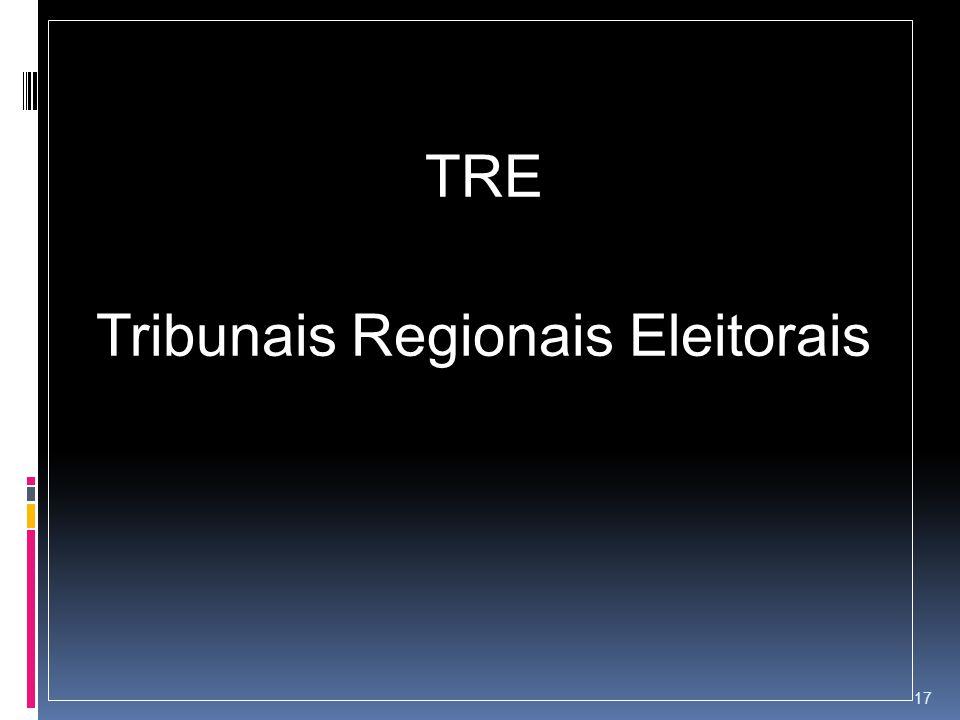 TRE Tribunais Regionais Eleitorais 17