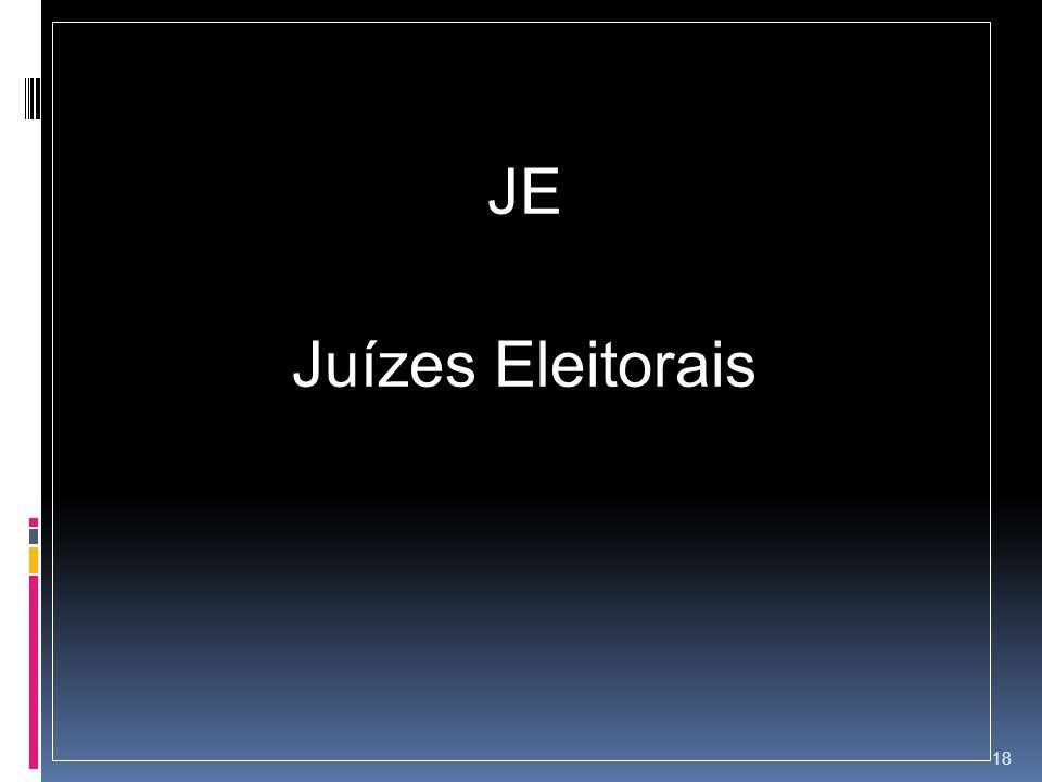 JE Juízes Eleitorais 18