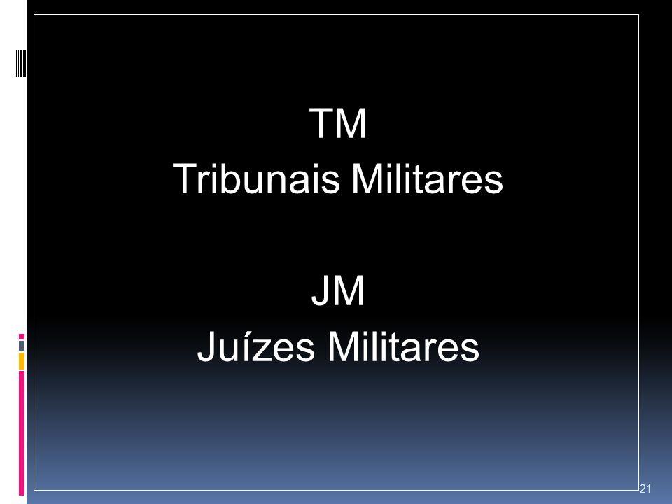 TM Tribunais Militares JM Juízes Militares 21