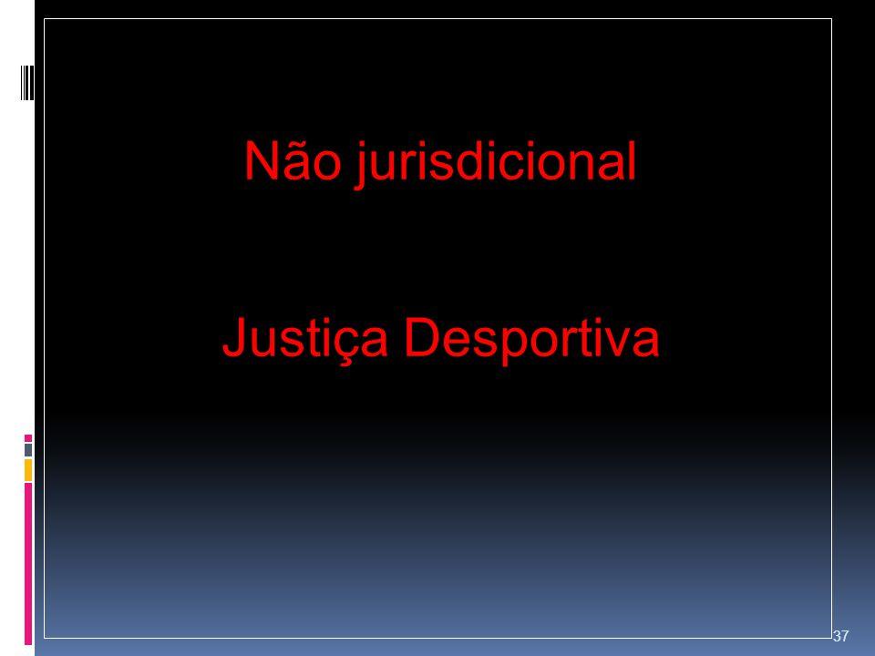 Não jurisdicional Justiça Desportiva 37