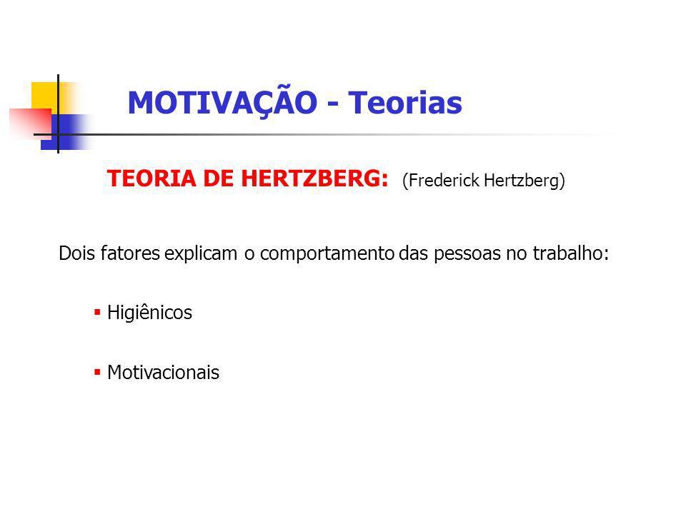 TEORIA DE MASLOW: MOTIVAÇÃO - Teorias