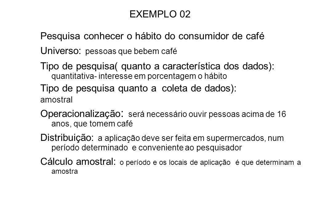 Exemplo 01 Pesquisa para aferir na população de Ribeirão Preto qual a opinião sobre a atual administração. Universo: moradores de Ribeirão Preto ( pel